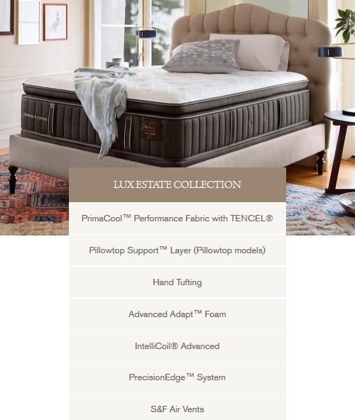the next level in stearns u0026 foster quality and features the lux estate collection adds hand tufting for increased and durability